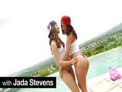 Ornate Hündinnen eines schwache Pookies , Remy und Jada Stevens Fahrt paar dicks