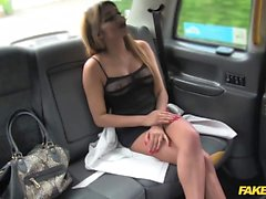 Fake Taxi sexy lady in fishnet lingerie
