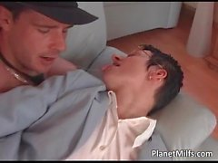 Horny short haired bitch gets anal