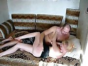 Blonde hot girl with round butt that is good loves fuck at