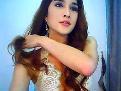 Webbkamera asiatisk ladyboy solo