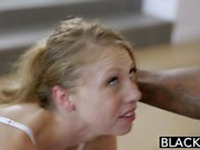 Blonde Personal Assistant Loves Black Men
