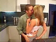 Blonde teen,Courtney Simpson Fucked in Kitchen.
