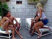 Kızgın biseksüel erkekler birbirinin ile gals beceriyor aşk