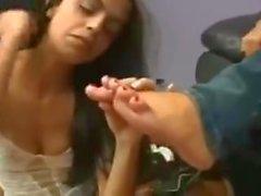 adoración del pie brasil (comer la piel muerta)