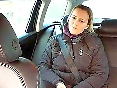 Real amateur anal fucked in back of taxi