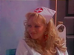 A blond nurse practicing good sex