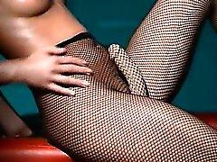 Luxus Babe teasing in der Strumpfhose