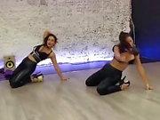 Sexy Sofia Stripper Dance Läder Tight Leggings