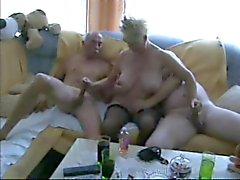 Mature biseksuele trio