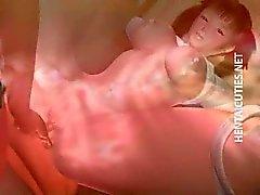 Sexy 3D Hentai Babe wird tief gefickt