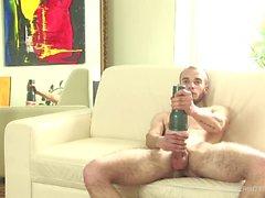 Honza Janota Beats Off With Sex Toy