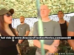 Nasty redhead babe in the army