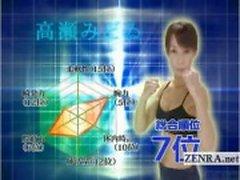 Sıyırma Altyazılı olgun kadın Japon vücut geliştirmeci