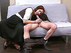 Ginette milf redhead deepthroated