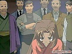 Japanese Hentai Mädchen gefangen und brutal Gangbang bandi
