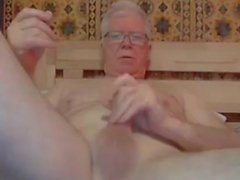 grandpa stroke and play on webcam