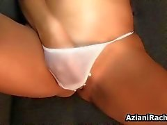 awesome blonde slut plays with her panties