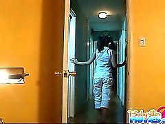 Faserpigtail frech Babysitter Evelyn Leng bekommen von gefickt