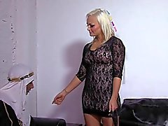 Blonde mistress makes her Arab cuckold watch