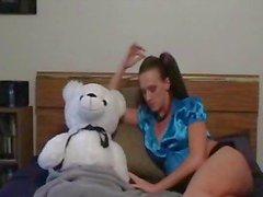 A Girl And Her Teddy Bear