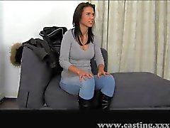 Casting - Skinny babe met perfect lichaam