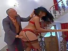Анальный секс ебать и Д. для горячей детка в чулки
