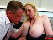 Natural tits milf nylon with cum on tits