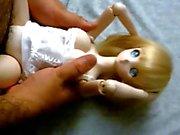 Sarı şirin anime Dollfie İçin onahole Bez Bebek lanet