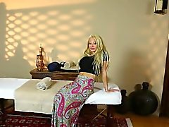 Amazing babes on special massage bedstead