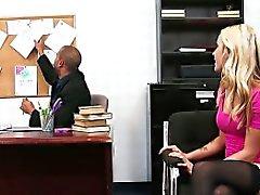 Superb blonde Karla Kush fucking in the office