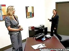 Busty blonde Julia Ann seduces her boss and sucks and fucks