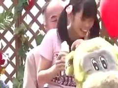 Japanese Teen Girl is fucked by her Step father at toy place