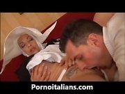 Due cazzi italiani per la suora ninfomane - Two cocks for Italian nun nymphomaniac -