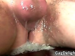 Branco brunette sexy enxada suga caralho rígido part4