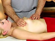 Massaged babe tricked