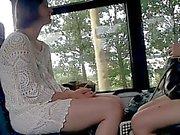 Voyeur Bus Teen Legs