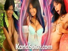 Karla Spice grünen Bikini
