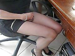 Matilde zum Orgasmus in der Strumpfhose schwarzen Ultras 8D