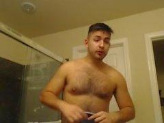 Dusch- butt naked immer bereit für eine Booty Call Sexy Handsome Latino