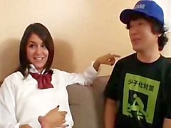 AMWF Latina Christina Moure interracial with Asian guy