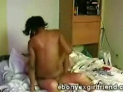 Perv hides a camera in his beautiful ebony gf bedroom