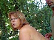 helene nude in the garden
