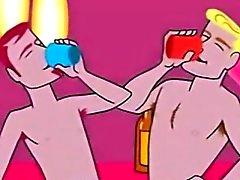 Homosexuell Zeichentrickfilm Jungen, die A Gangbang Vertragspartei