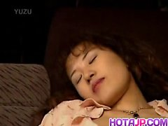 Yuki has shaved crack fucked with licked cock after vibrator