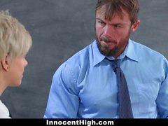 InnocentHigh Hot Shy Teen Fucks Teacher