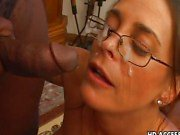 Cheyenne Hunter sucking black dick