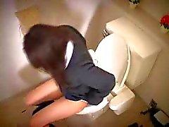 Japanischen Mädchen Wichsen erwischt