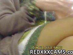 Hot teen doigtant sa chatte juteuse ainsi le sexe anal au webcam la spectacle vivant Leake