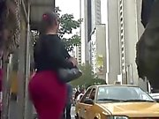 Bbw pawg jiggle in red pants! real hot.